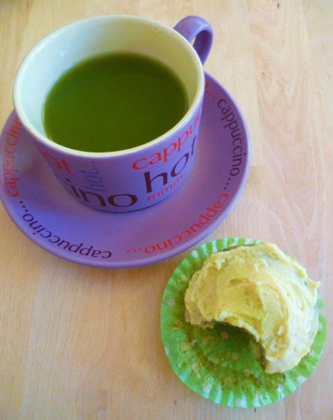 matcha and lemon fairycake