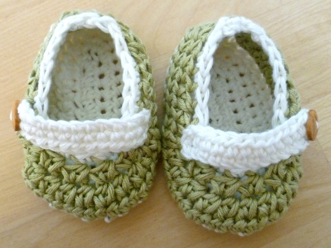 crochet cotton booties