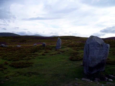 Druids' cricle standing stones