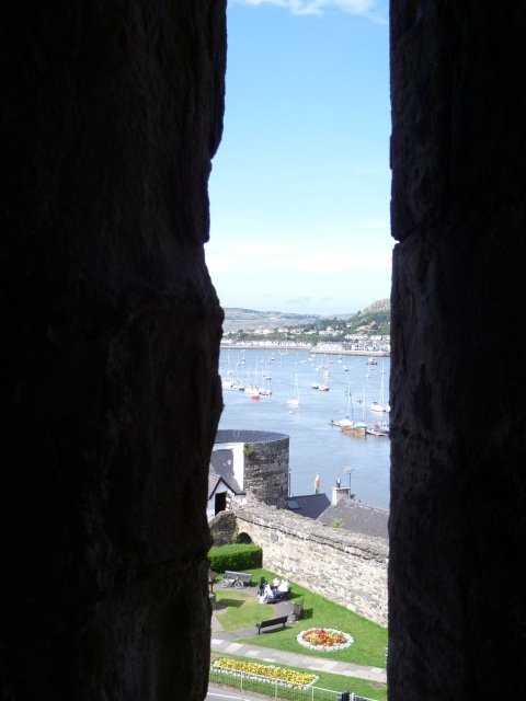 Conwy bay through arrow slit
