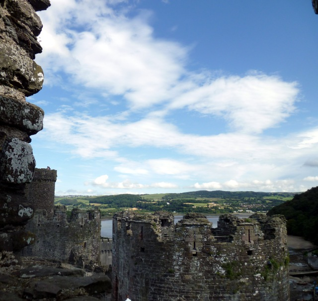 hills from Conwy castle